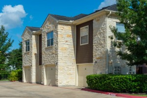 Apartments in Katy, TX - Exterior Apartment Building with Attached Garages (2)
